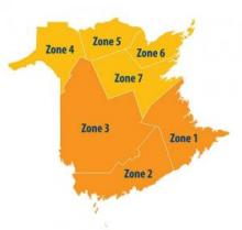 Zones 1, 2 & 3 are in ORANGE level, all others in YELLOW