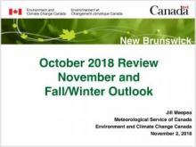 October review and fall winter outlook