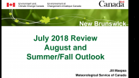 July 2018 weather review and August / Fall outlook (PDF file)