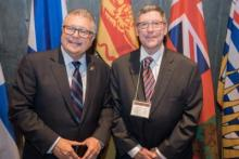 Hon Ralph Goodale and Al Thurber VE1RG